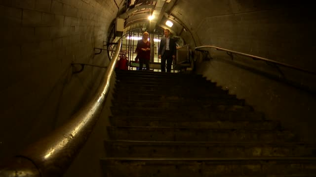 hidden history of london tube network revealed in new tour and book; england: london: piccadilly circus underground: int reporter and siddy holloway... - edwardian style stock videos & royalty-free footage