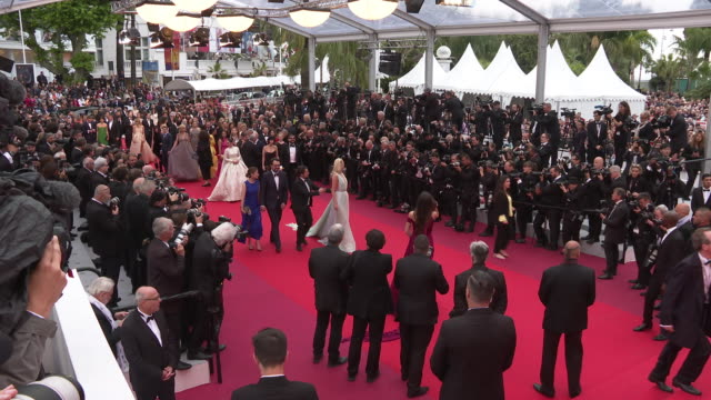 stockvideo's en b-roll-footage met hidden life' red carpet arrivals - the 72nd cannes film festival at palais des festivals on may 19, 2019 in cannes, france. - filmfestival