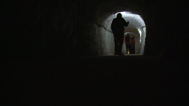 a hidden tunnel complex that formed britains first line of defence in world war ii opened to the public this week after six decades buried as a... - hiding stock-videos und b-roll-filmmaterial