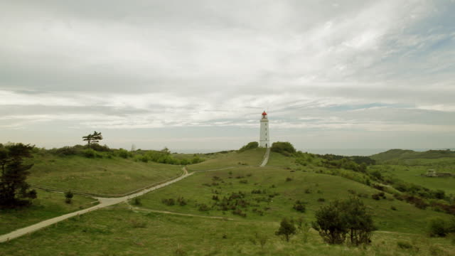 Insel Hiddensee Leuchtturm auf der Thornton Beach hill