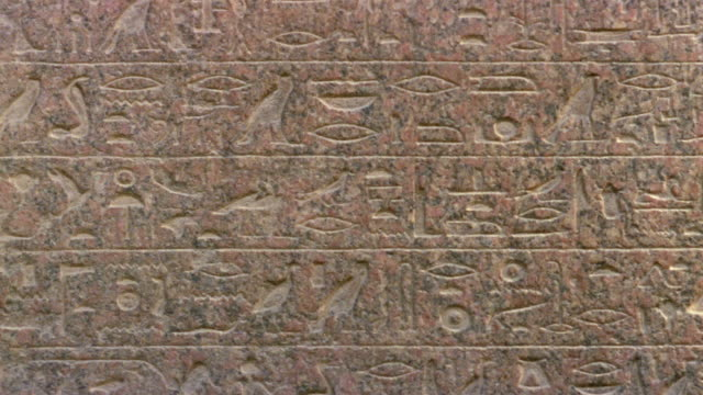 cu td hieroglyphics engraved on stone tablet in front of great sphinx / giza, egypt - hieroglyph stock videos & royalty-free footage