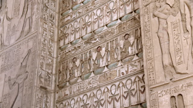hieroglyphics, karnak, luxor, egypt - temples of karnak stock videos and b-roll footage