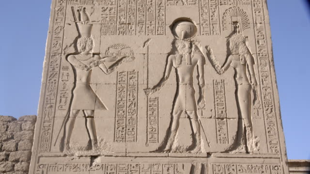 hieroglyphics, karnak, luxor, egypt - temples of karnak stock videos & royalty-free footage