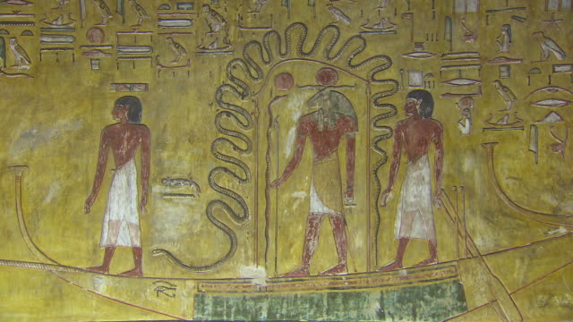 CU Hieroglyphics on the wall of temple of Seti 1 / Egypt