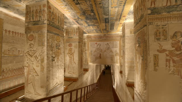 hieroglyphics, valley of the kings, luxor, egypt - luxor thebes stock videos & royalty-free footage