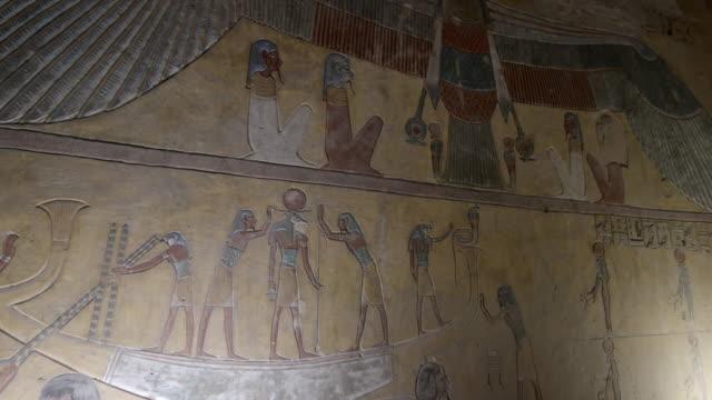hieroglyphics, valley of the kings, luxor, egypt - hieroglyph stock videos & royalty-free footage