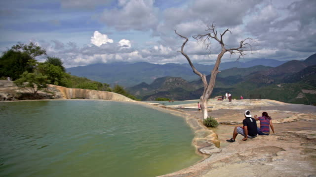 Hierve el Agua or the petrified waterfalls