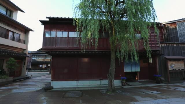 ms pan higashi chaya-gai,groups of traditional buildings / kanazawa, ishikawa, japan - kanazawa stock videos and b-roll footage