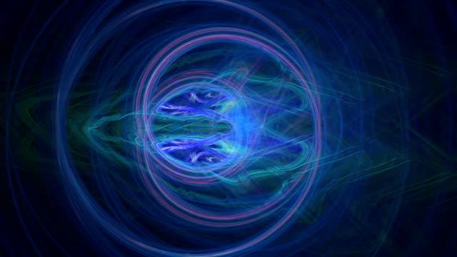 higgs field concept - フラクタル点の映像素材/bロール