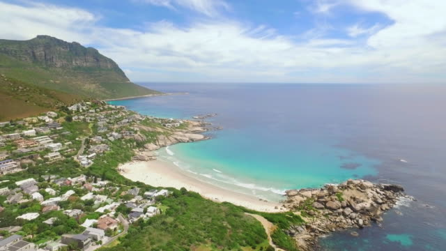 high above llandudno beach - south africa stock videos & royalty-free footage