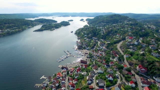 high above the fjords of telemark - telemark stock videos and b-roll footage