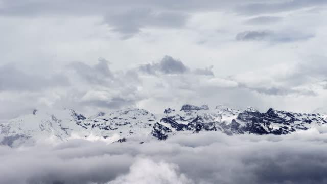 T/L High Alps seen from Mount Pilatus / Lucerne, Switzerland