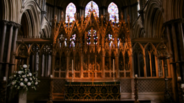 ws high altar in ely cathedral - religious equipment stock videos & royalty-free footage