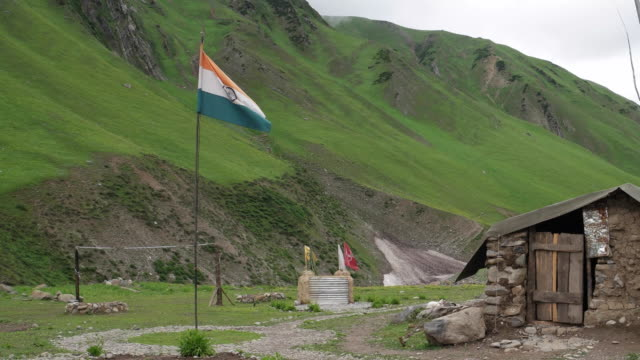 a high altitude army base camp in the kashmir valley - special forces stock videos & royalty-free footage