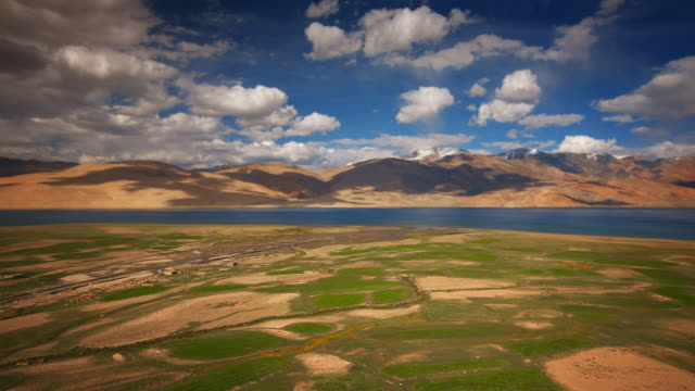 high altitude pangong tso lake in the himalayas - 1952 stock videos & royalty-free footage