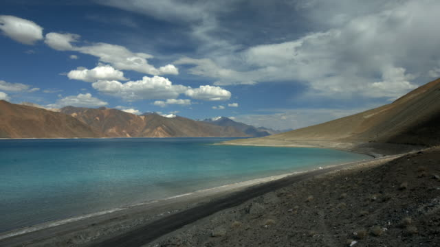 high altitude pangong tso lake in the himalayas - 1962 stock videos and b-roll footage