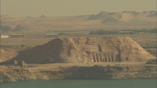 high angle, aerial - historical sites decorate the nile delta along the river nile in egypt - egypt stock videos & royalty-free footage