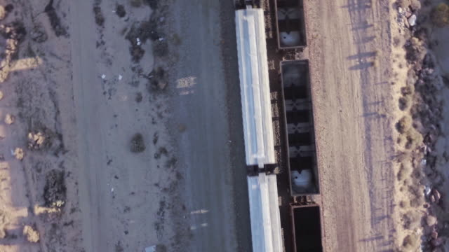high angle aerial looking down on freight train - cargo train stock videos & royalty-free footage