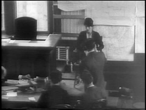 b/w 1935 high angle anne morrow lindbergh testifying on stand at baby's kidnapping trial / nj / newsreel - 1935 stock videos & royalty-free footage