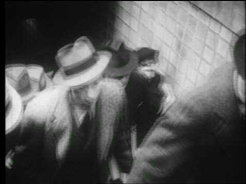 stockvideo's en b-roll-footage met b/w 1939 high angle businessmen + women walking up stairs exiting subway station / nyc /  documentary - 30 39 jaar
