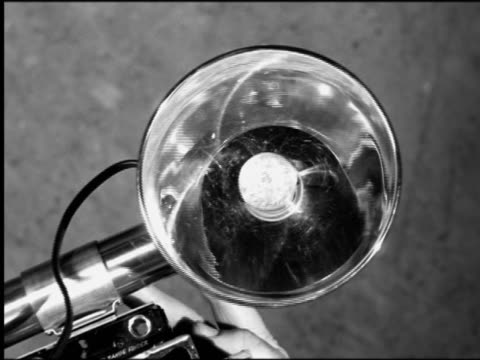 "b/w 1956 high angle close up flash bulb on camera flashing / ""the harder they fall"" - flash stock videos & royalty-free footage"