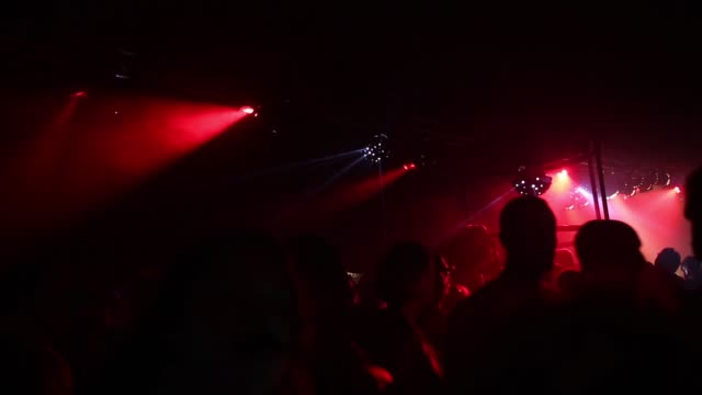 High angle crowd shot of dancing people at Block 9 night venue