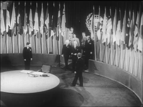 vídeos y material grabado en eventos de stock de high angle delegates entering room for signing of un charter / sf / newsreel - 1946