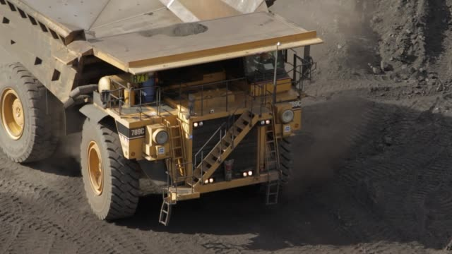 high angle dump truck - miner stock videos and b-roll footage