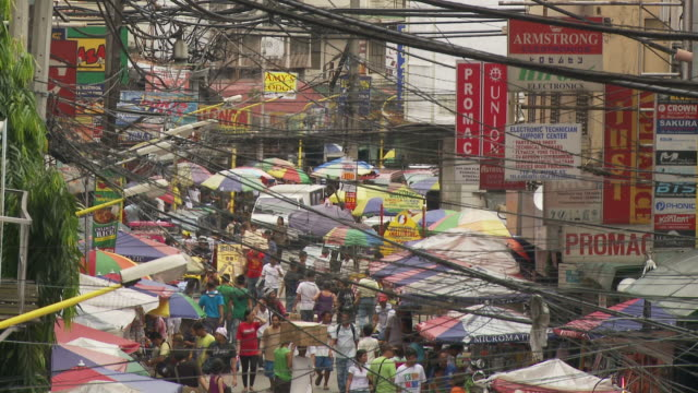 High Angle of street in Manila Philippines