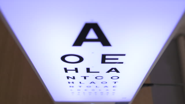 high angle on eye chart - type 1 diabetes stock videos & royalty-free footage