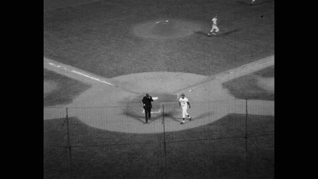 high angle panning shot of baseball game, dodger stadium, los angeles, california, usa - medium group of people stock videos & royalty-free footage