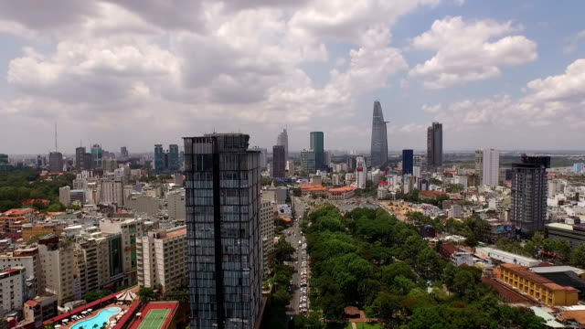 high angle perspective of bustling saigon, vietnam - ho chi minh city stock videos & royalty-free footage