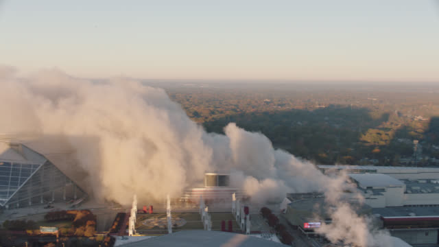 "ws. high angle reveal of smoke from implosion of georgia dome stadium ""georgia world congress center"" on november 20, 2017, in downtown atlanta, georgia. - imploding stock videos and b-roll footage"