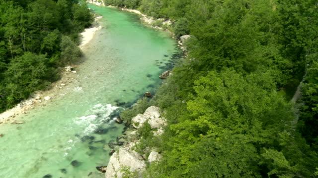 HD: High Angle Shot Of A Beautiful River