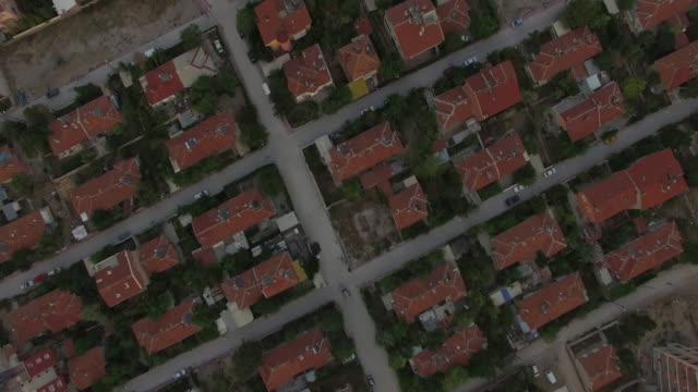 High angle shot of houses in Middle East