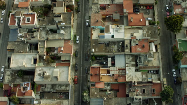 high angle shot over mexico city rooftops - mexico city stock videos & royalty-free footage