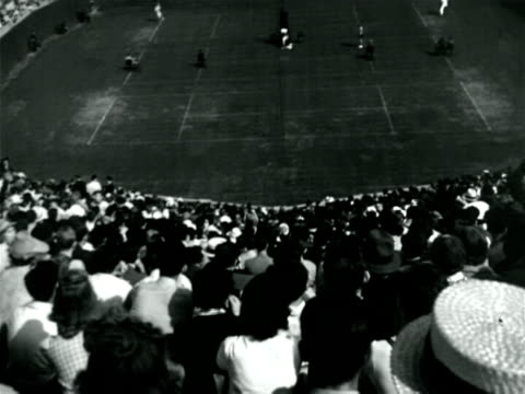 b/w 1923 high angle tilt up crowd watching tennis match / documentary - 1923 stock videos & royalty-free footage