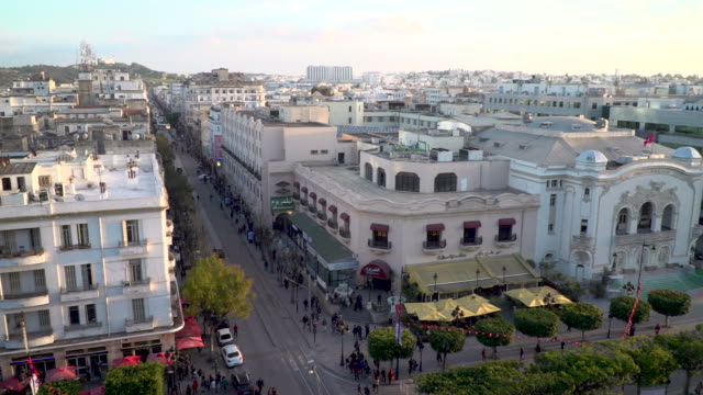 high angle view across tunis, tunisia - tunisia stock videos & royalty-free footage