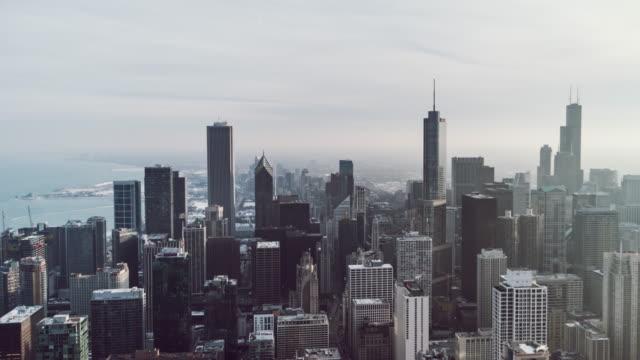 Vista de ángulo alto T/L del horizonte de Chicago