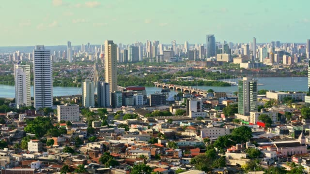 high angle view of cityscape - recife stock videos and b-roll footage