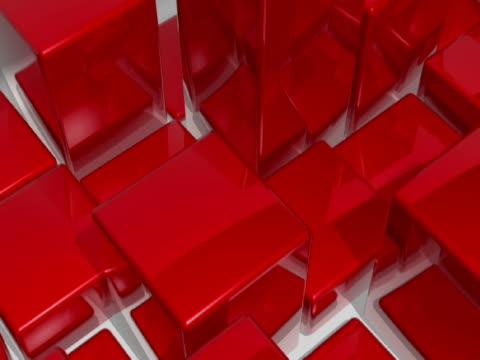vídeos y material grabado en eventos de stock de high angle view of cubes in motion - balancín