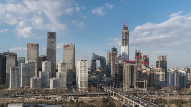 t/l ws はパン北京のダウンタウンのハイアングル/北京、中国 - 北京点の映像素材/bロール