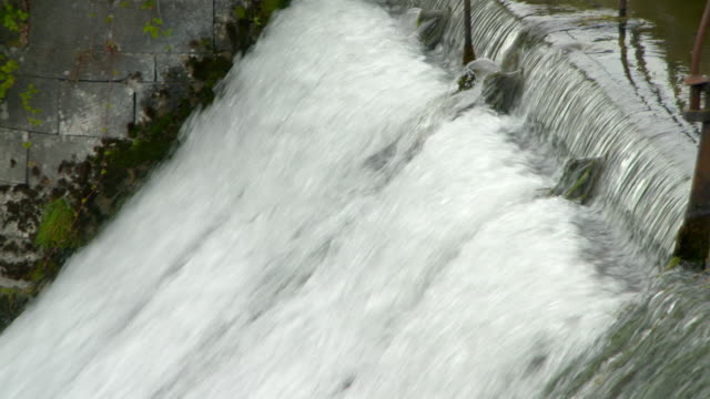 high angle view of flowing water - galway, ireland - falling water stock videos & royalty-free footage