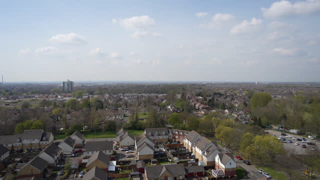 high angle view of kingston upon hull, u.k., on tuesday, april 20, 2021. - computer network stock videos & royalty-free footage