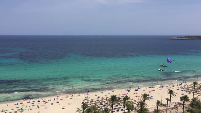 high angle view of majorca island - palma stock videos & royalty-free footage