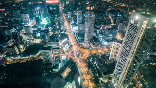 high angle view of nanjing city traffic,china - nanjing stock-videos und b-roll-filmmaterial