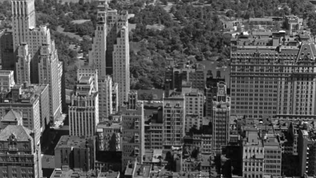 high angle view of new york midtown and central park, manhattan, new york state, usa - 1937 stock videos & royalty-free footage