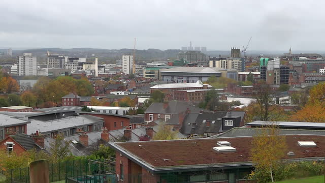 high angle view of nottingham - change stock videos & royalty-free footage