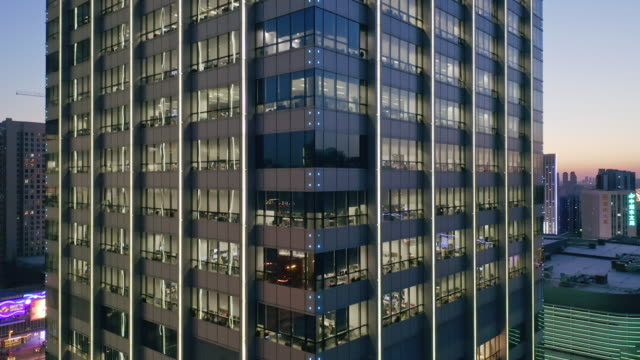 high angle view of office building - bildkomposition und technik stock-videos und b-roll-filmmaterial