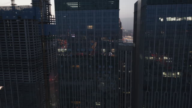 high angle view of office building - liyao xie stock videos & royalty-free footage